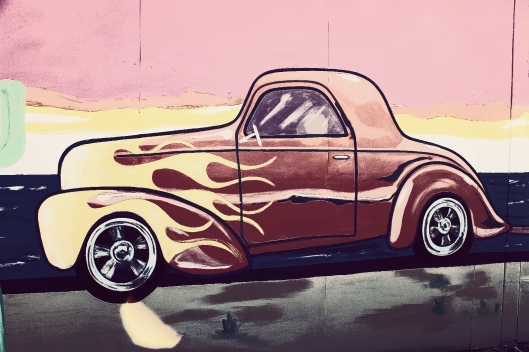 car mural in Kingman AZ