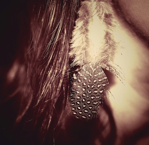 feather earrings I made