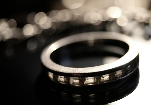 silver ring macro